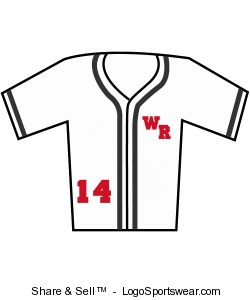 Youth Walk Off Baseball Jersey with Sewn-On Braid Design Zoom