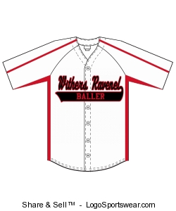Adult Diamond-Core Full Button Baseball Jersey with Mesh Side Inserts Design Zoom